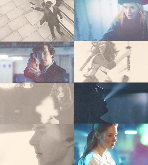 Amy/Sherlock Crossover Fanart