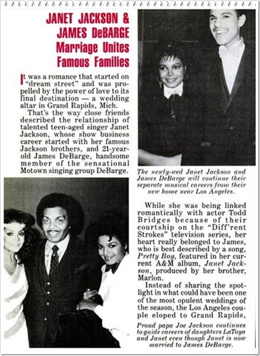 An articulo Pertaining To Janet And First Husband, James DeBarge