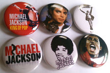 An Assortment Of Michael Jackson Buttons