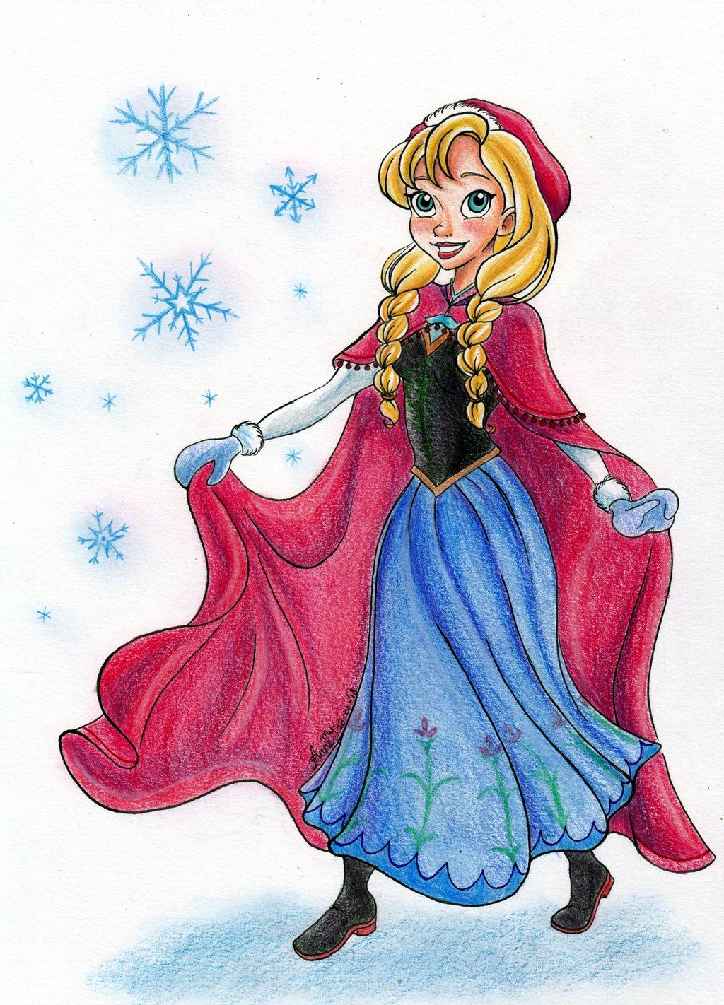 Cartoon Anna From Frozen