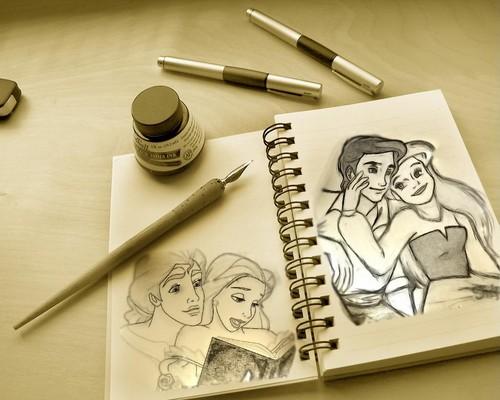 Ariel & Eric, Belle & Adam!