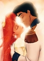 Ariel Eric's kiss - disneys-couples photo