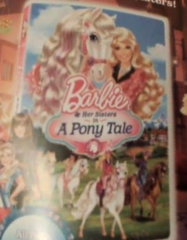 Barbie in a kuda, kuda kecil tale DVD cover