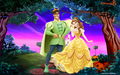 Belle and Naveen - disney-crossover wallpaper