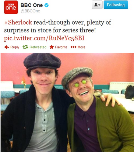 Benedict and Martin at the S3 read-through!