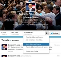 Blocking Obama on Twitter - twitter photo