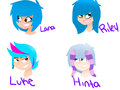 Blue Hair Crew- 6teen style  - total-drama-island-fancharacters fan art
