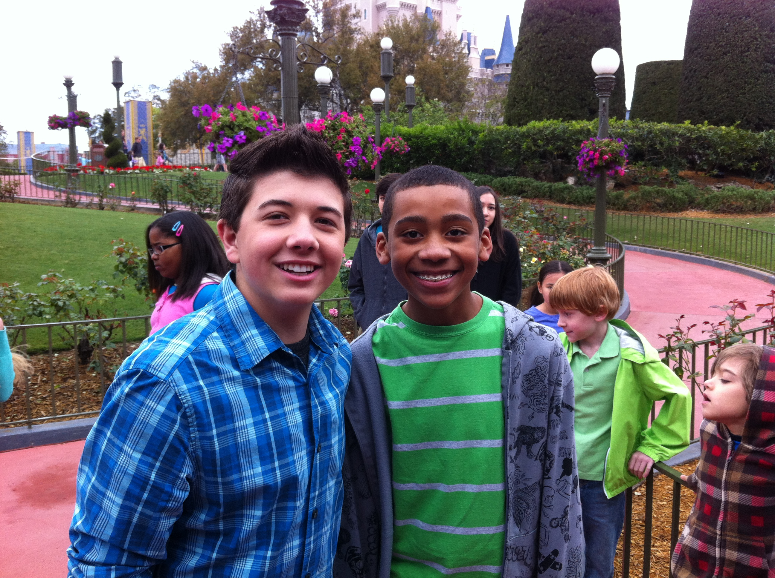 Bradley Steven Perry hanging out with Friend