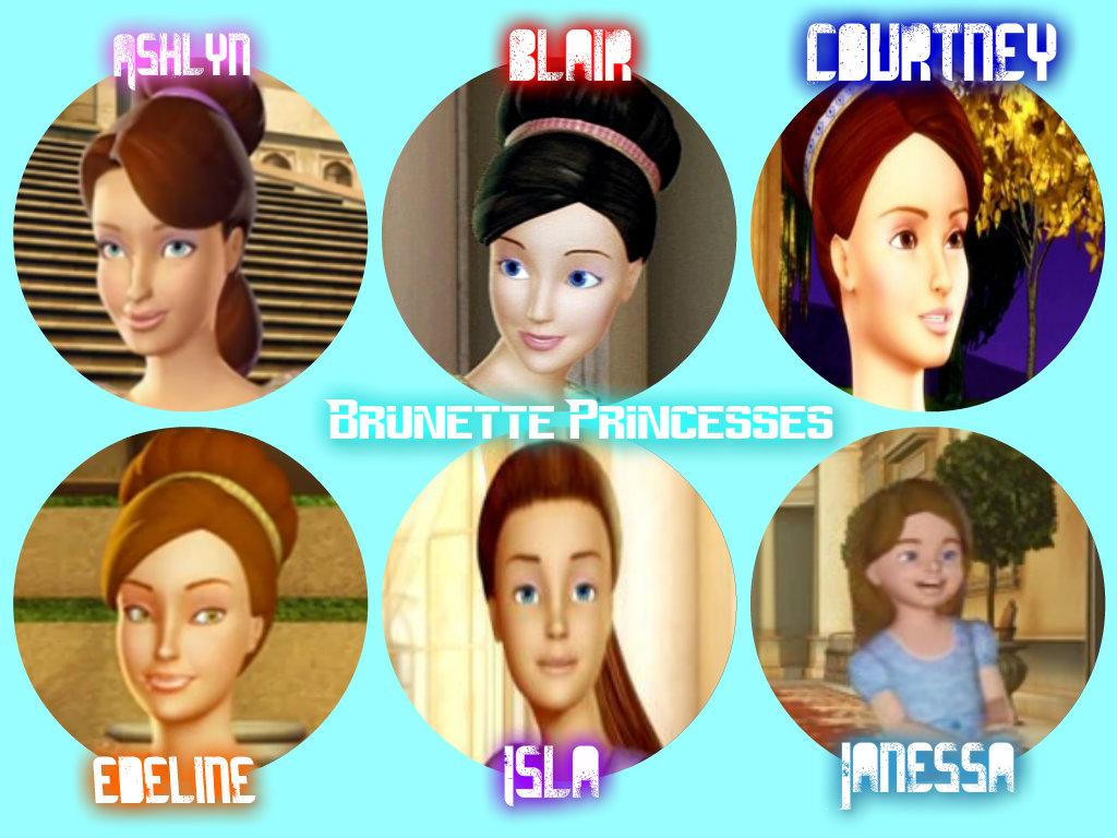 Brunette Princesses Barbie In The 12 Dancing Princesses Fan Art