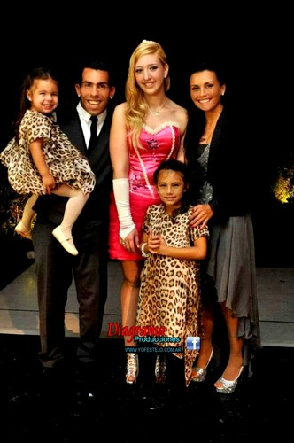Carlos Tevez Family - katie tevez flor tevez daughters