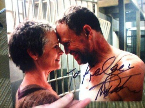 Carol (Melissa McBride) and Merle (Michael Rooker)