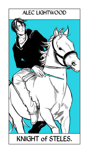 Cassandra Jean's Tarot Cards: Alec Lightwood {Knight of Steles}.