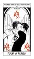 Cassandra Jean's Tarot Cards: Alec & Magnus {Four of Runes}.