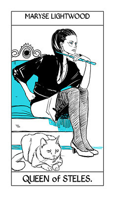 Cassandra Jean's Tarot Cards: Maryse Lightwood {Queen of Steles}.
