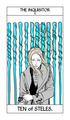 Cassandra Jean's Tarot Cards: The Inquisitor {Ten of Steles}.