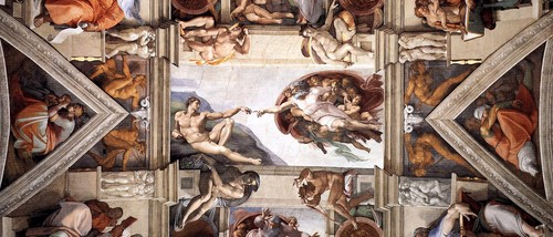 Ceiling of the Sistine Chapel [detail]
