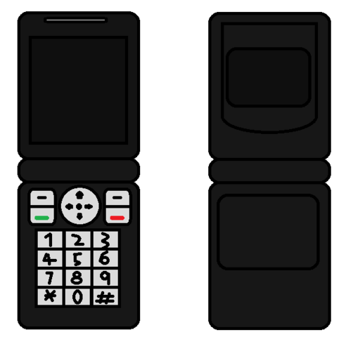 Cellphone Flip Black