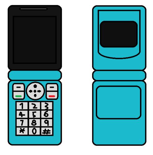Cellphone Flip Blue