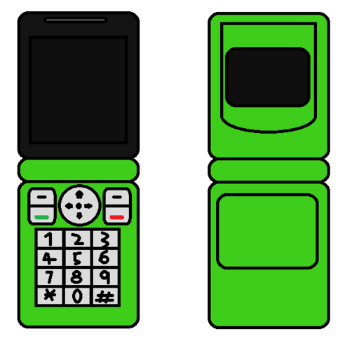 Cellphone Flip Green