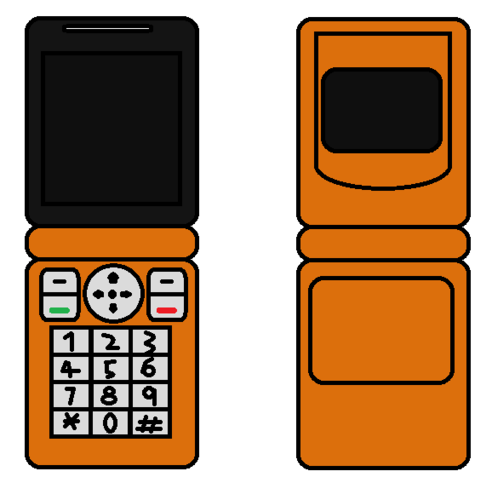 Cellphone Flip orange