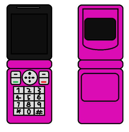 Cellphone Flip rosado, rosa