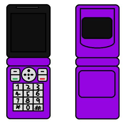 Cellphone Flip Purple