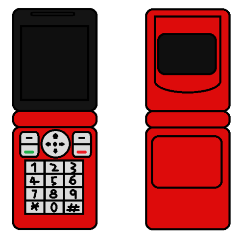 Cellphone Flip Red