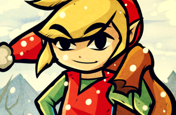 The Legend of Zelda wallpaper probably containing anime entitled Christmas Toon Link