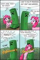 Creeper and Pinkie Pie - minecraft photo