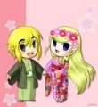 Cute Link and Zelda - the-legend-of-zelda fan art