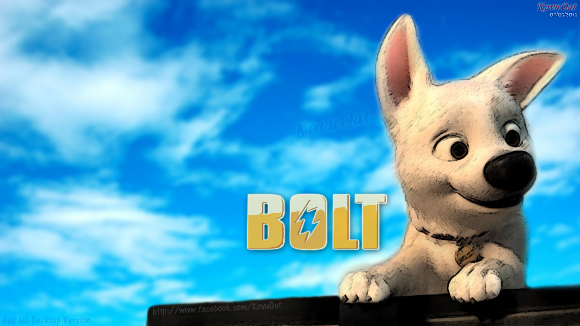 Disney Bolt Desktop Wallaper Hd Disneys Bolt Wallpaper