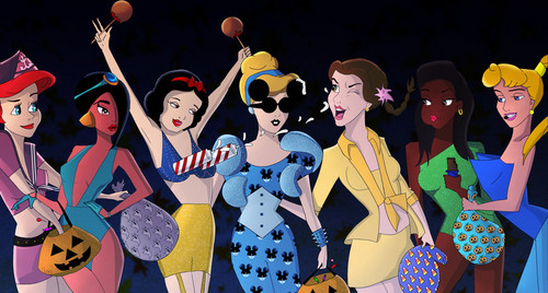 Disney Princesses as celebrities on Halloween
