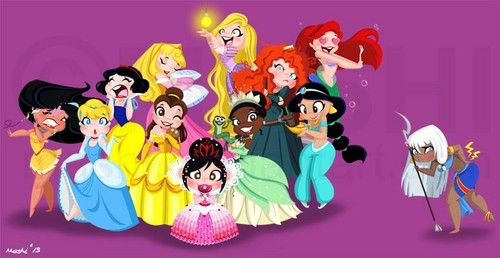 ディズニー Princesses with Kida and Vanellope