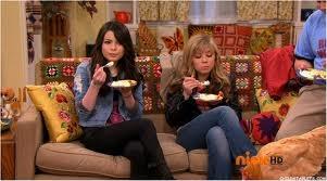 Eating cake at Nora's