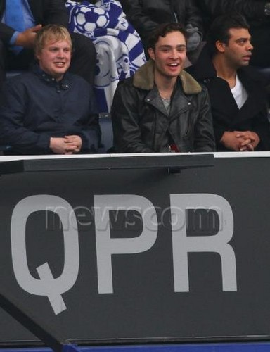 Ed Westwick at the Queens Park Rangers vs Sunderland game (9 Mar)
