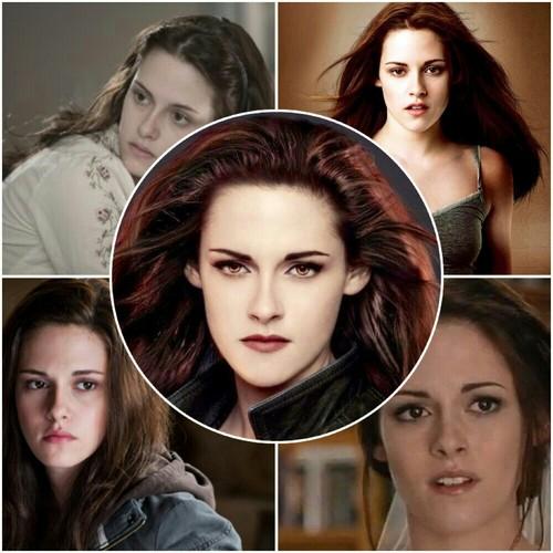 Edward, Bella and Renesmee mash-up pics