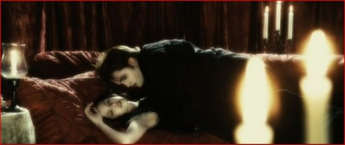 Edward biting Bella in Twilight