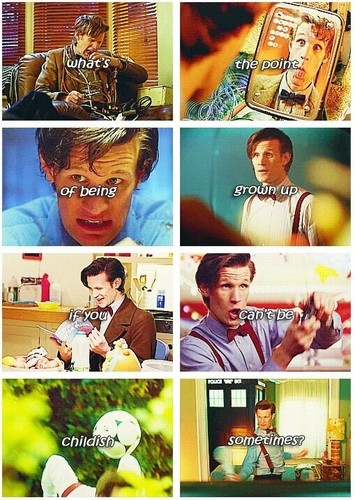 The Eleventh Doctor wallpaper probably with a newspaper and anime titled Eleven