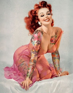pin up girl wallpaper possibly with a portrait titled Evite