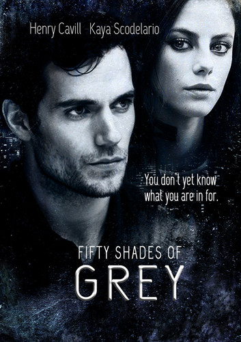 Fifty Shades of Grey Hintergrund probably containing a sign and a portrait entitled Fifty Shades of Grey Poster