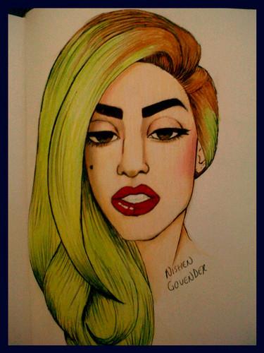 Gaga drawing 由 nishen