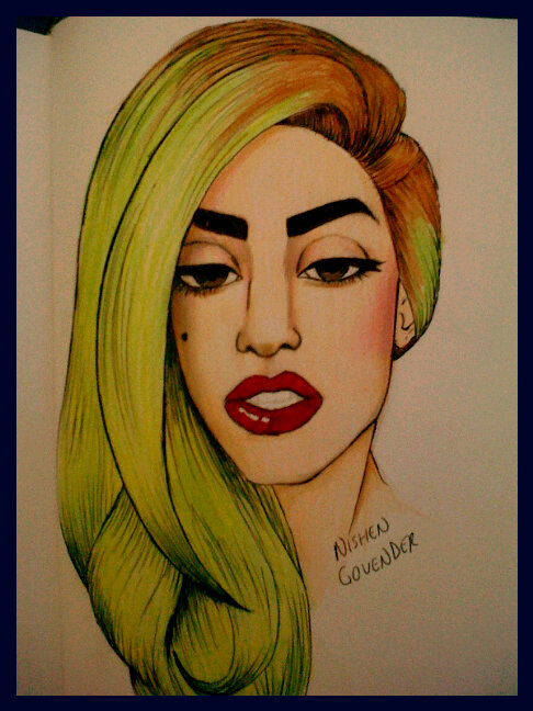 Gaga drawing by nishen