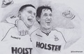 Gazza & Gary Lineker - soccer fan art