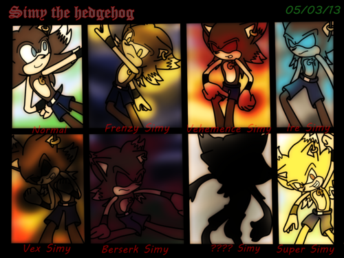 Sonic 粉丝 Characters 壁纸 with a stained glass window entitled Gift - Simy's Transformations