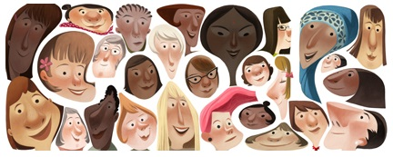 Google wallpaper called Google Doodle for International Women's Day