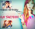 Happy Birthday Kim Taeyeon!~♡