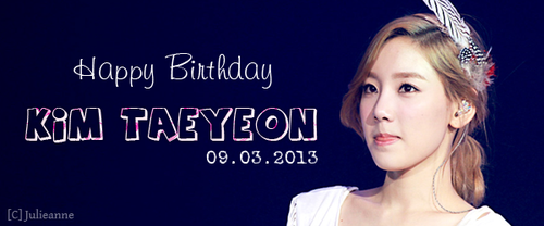 Happy Birthday Kim Taeyeon!~♡