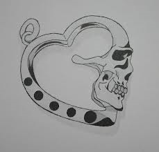 Heart-shaped skull