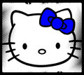 Hello-Kitty Bow Blue - hello-kitty fan art
