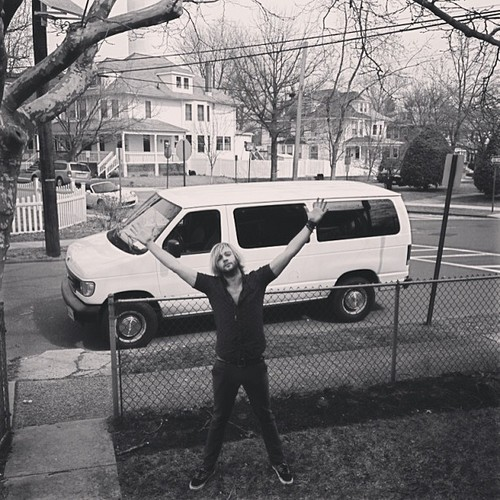 Keith Harkin wallpaper possibly containing a van called Hello New Jersey!